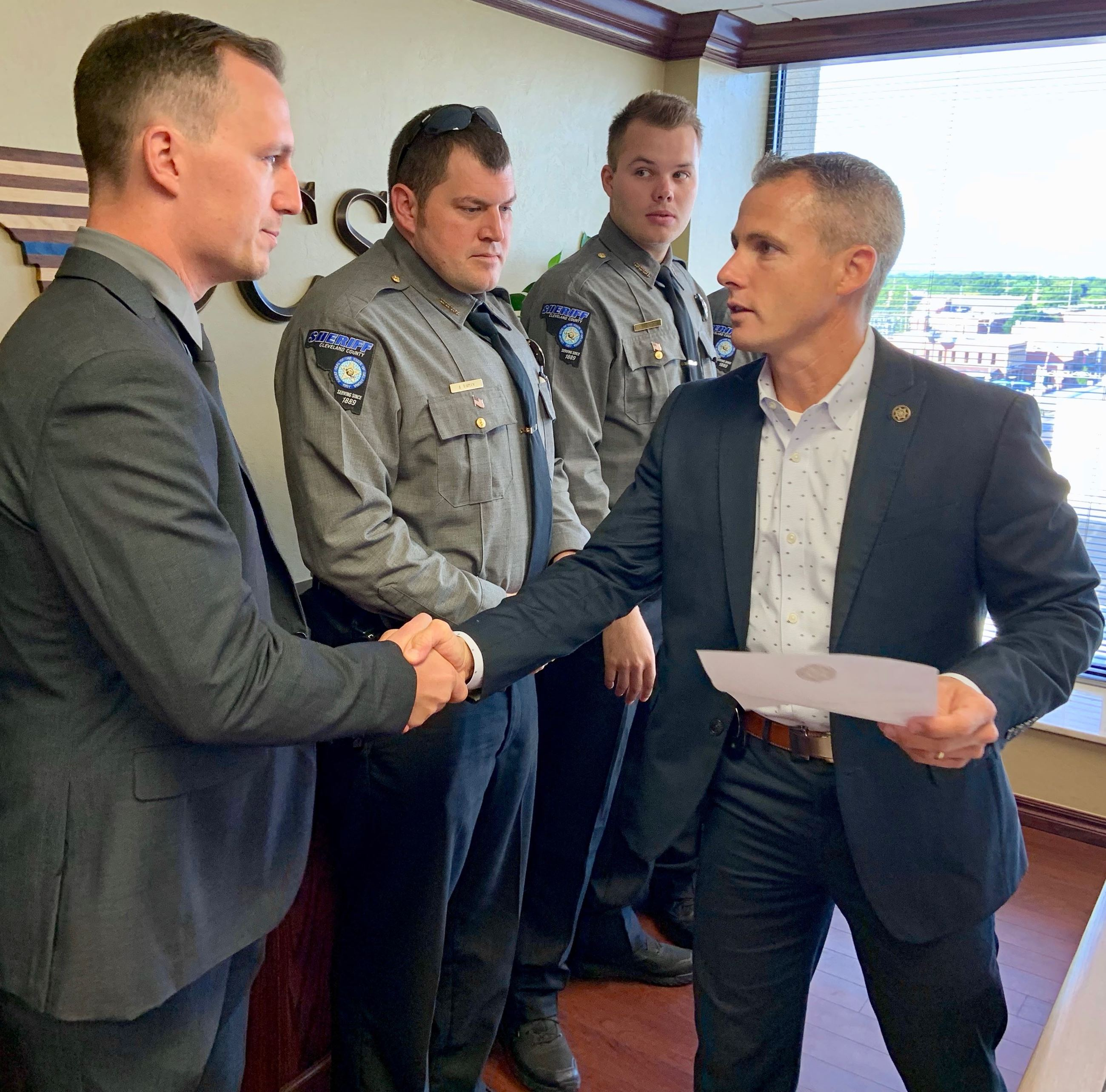 Sheriff Gibson welcomes new team members